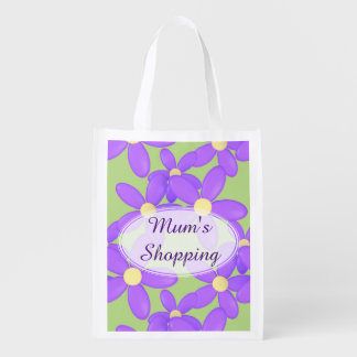 Het winkelen van de Bloem van Mum Paarse zak Boodschappentas