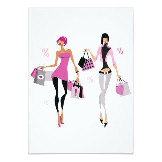 Het Winkelen van vrouwen Uitnodigingen