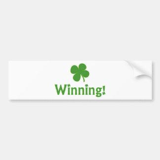 Het winnen Charlie Sheen St. Patrick Dag Bumpersticker