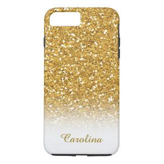 Het wit en het Goud schitteren, Gepersonaliseerd iPhone 8/7 Plus Hoesje