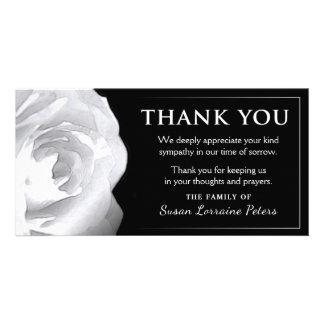 Het wit nam dankt u Sympathie van Familie toe Kaart