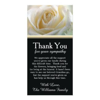Het wit nam de Sympathie van de Rouw dankt u toe Kaart