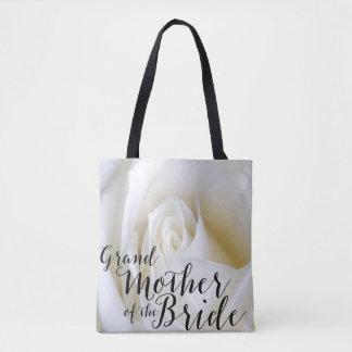 Het wit nam Grootmoeder van het Canvas tas van het