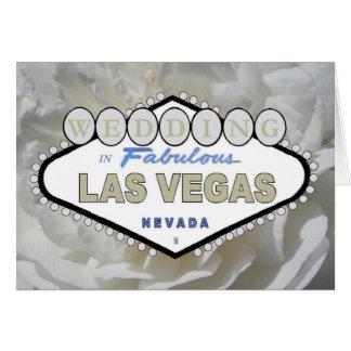 Het wit nam HUWELIJK in Fabelachtig Las Vegas Wenskaart
