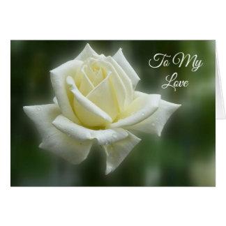 Het wit nam Valentijn toe Briefkaarten 0