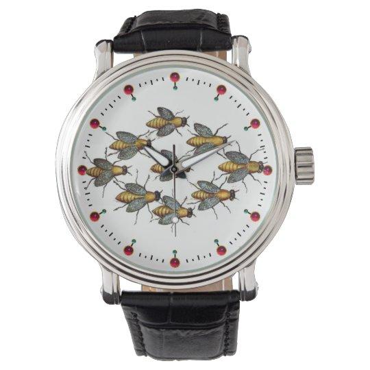 Het Wit van de IMKERIJ van de BIJEN/van de IMKER Horloge