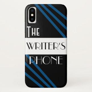 Het wit van de Telefoon van de Schrijver Modieuze iPhone X Hoesje