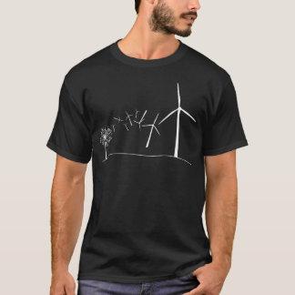 Het Wit van de Turbines van de wind T Shirt