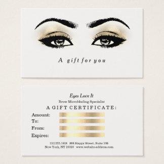 Het Wit van het Certificaat van de gift schittert Visitekaartjes
