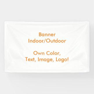 Het Wit van uni van de banner - Eigen Kleur