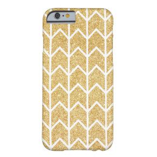 Het witgoud schittert Patroon van de Chevron van Barely There iPhone 6 Hoesje