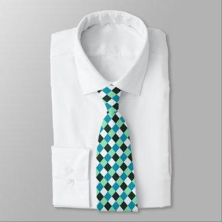 Het Witte Blauwgroen Groenachtig blauwe Turkoois Feest Stropdas