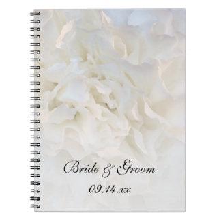 Het witte BloemenHuwelijk van de Anjer Notitieboek