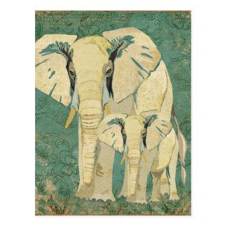 Het witte Briefkaart van de Jade van Olifanten