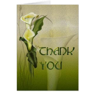 Het witte Calla Huwelijk dankt u Wenskaart