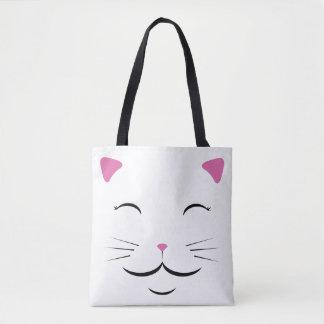 Het witte Canvas tas van de Kat