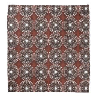 Het witte Claret Patroon van Mandala Bandana