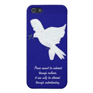 Het witte duif-Citaat van de Vrede iPhone 5 Covers