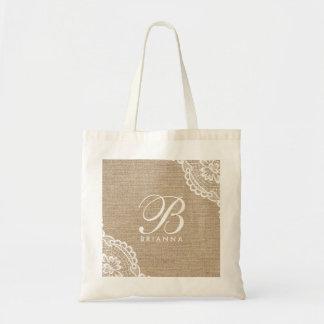Het witte Elegante Canvas tas van de Jute van het