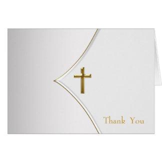 Het witte en Gouden DwarsDoopsel dankt u Kaarten