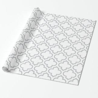 Het witte en Grijze Patroon van het Rooster Inpakpapier