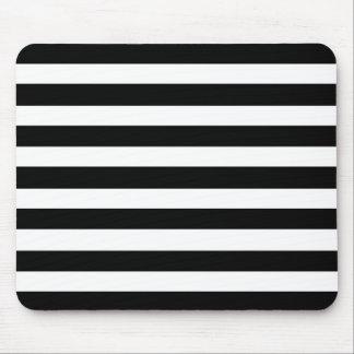 Het witte en Zwarte Elegante Horizontale Patroon Muismat