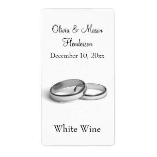 (Het witte) Etiket van de Wijn van het Huwelijk