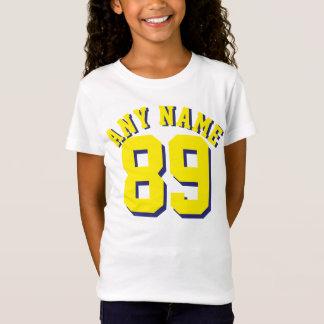 Het witte & Gele Kinder Ontwerp van Jersey van de T Shirt