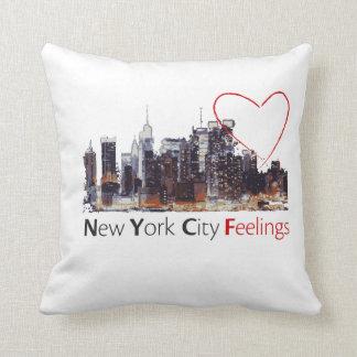 Het Witte Hoofdkussen van de Stad van New York Sierkussen