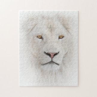 Het witte HoofdRaadsel van de Leeuw Puzzel