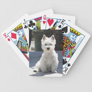 Het witte Hoogland Terrier die van het Westen op Bicycle Speelkaarten