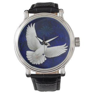 Het witte Horloge van de Duif van de Vrede