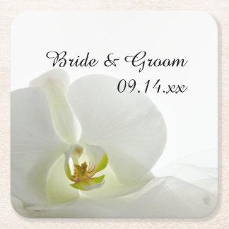 Het witte Huwelijk van de Orchidee en van de Vierkanten Viltjes