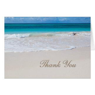 Het witte Huwelijk van het Strand dankt u nota Briefkaarten 0