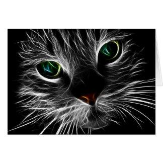 Het witte Kat ziet Abstract Fractal van | Kat Kaart