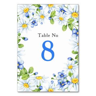 Het Witte Land Daisy Floral Wedding Table Card van Kaart