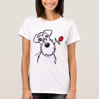 Het witte Liefje Schnauzer nam toe T Shirt