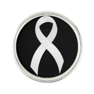 Het Witte Lint van de Longkanker Reverspeld