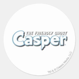 Het Witte Logo van Casper Ronde Sticker