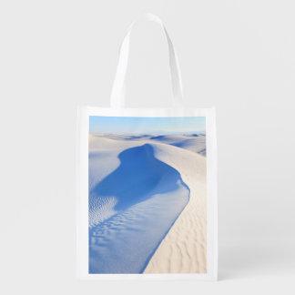 Het witte Nationale Monument van het Zand Herbruikbare Boodschappentas