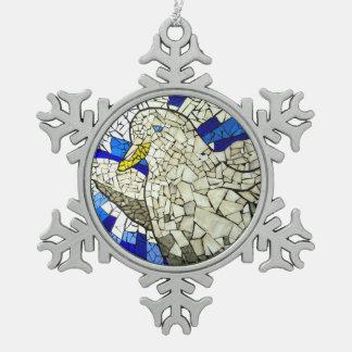 Het witte Ornament van Kerstmis van de Sneeuw van
