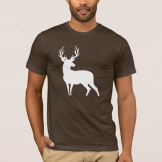 Het witte Overhemd van het Silhouet van Herten T Shirt