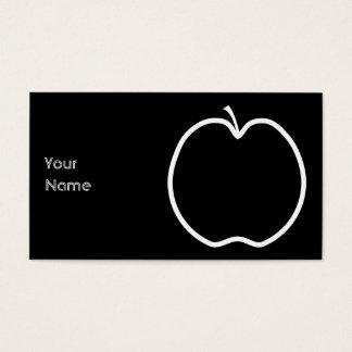 Het witte Overzicht van Apple Visitekaartjes