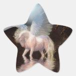 Het Witte Paard van de abstracte Engel Ster Stickers