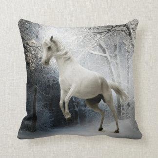 Het witte Paard van de Fantasie Sierkussen