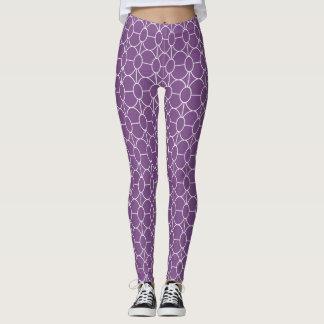Het witte patroon van art decocirkels op leggings