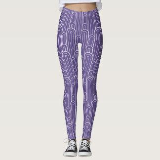Het witte patroon van de art decoboog op leggings