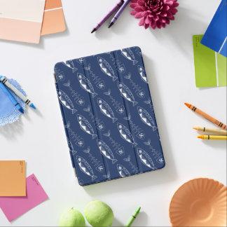 (Het witte) patroon van vissen, diverse kleuren iPad Air Cover
