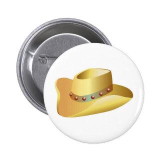 Het witte Pet van de Cowboy Ronde Button 5,7 Cm