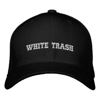 Het witte Pet van het Afval Geborduurde Pet